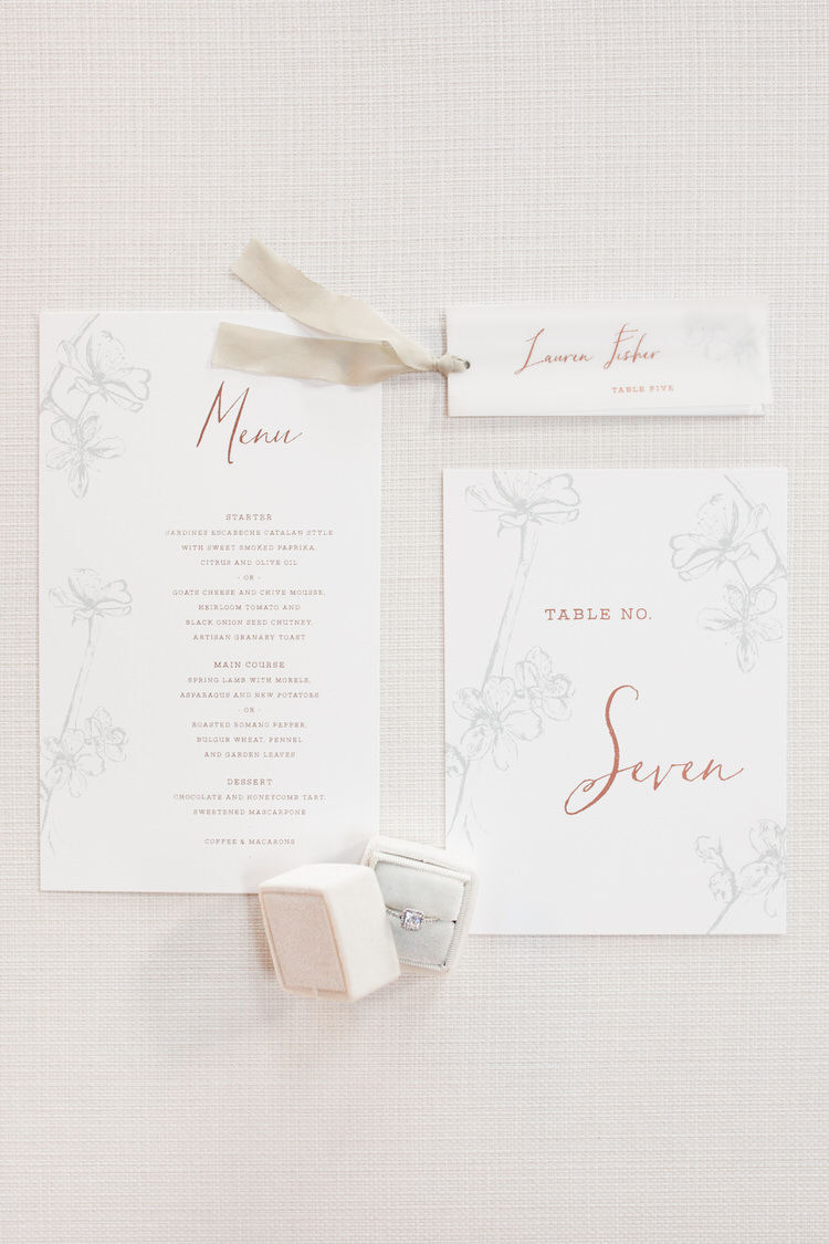 Stationery Blush Floral Calligraphy Invites Invitations Ribbon Ethereal Fine Art William Morris Wedding Ideas http://jessicadaviesphotography.co.uk/