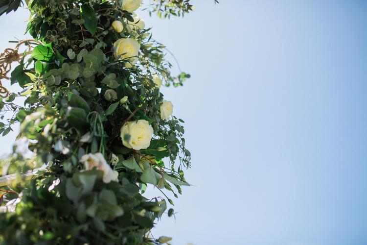 Foliage Rose Arch Flowers Bohemian Garden Greenery Wedding Ideas http://www.storytellerphotography.co.uk/