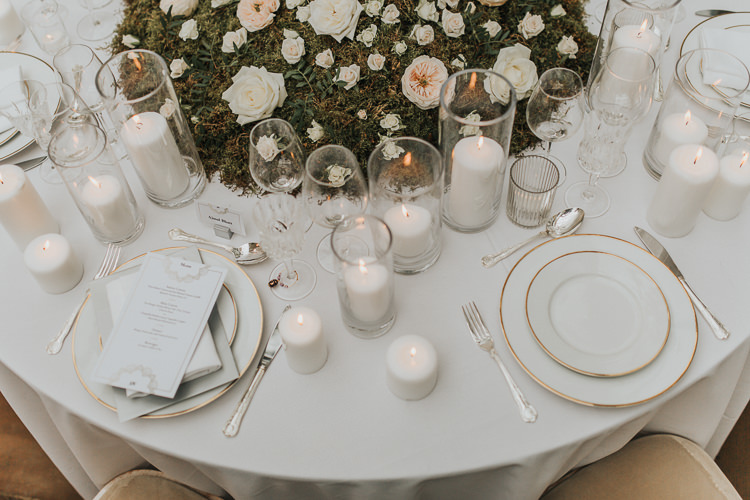 Table Scape Candles Moss Roses Centrepiece Decor Flowers Natural Elegance Asian Fusion Wedding Ideas http://liannegrayphotography.com/