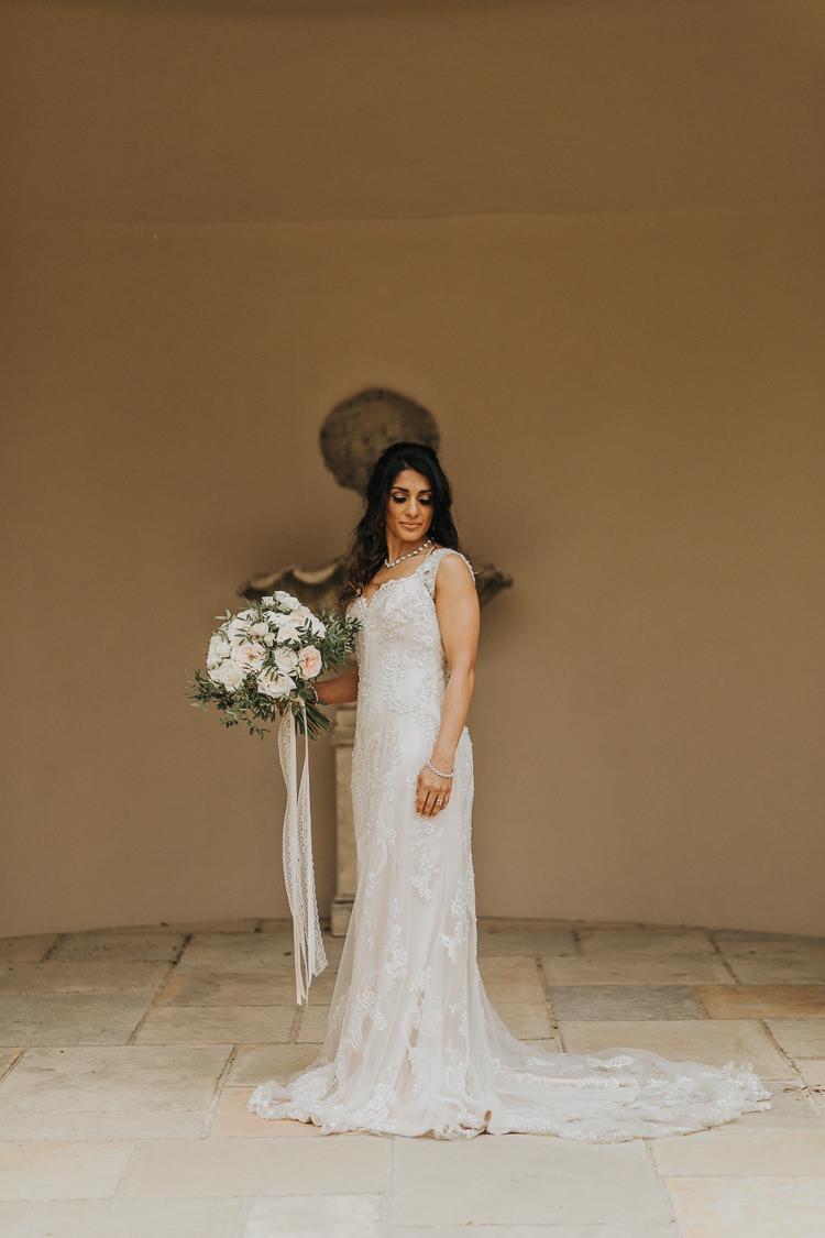 Enzoani Lace Dress Gown Train Bride Bridal Natural Elegance Asian Fusion Wedding Ideas http://liannegrayphotography.com/