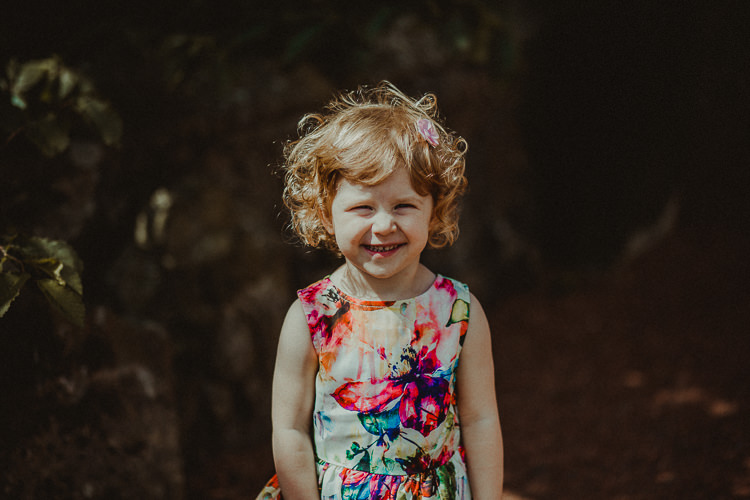 Floral Flower Girl Dress Eclectic Kitsch Retro Fete Wedding http://www.belleartphotography.com/