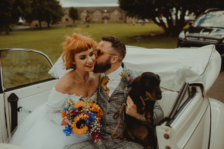 Dog Pet Bride Groom Eclectic Kitsch Retro Fete Wedding http://www.belleartphotography.com/