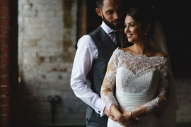 Industrial Rose Gold Dove Grey Greenery Wedding http://hbaphotography.com/
