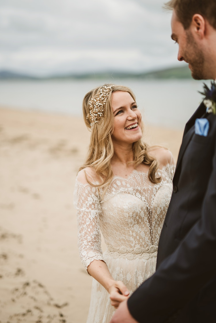 Hair Bride Bridal Waves Mid Style Accessory Homely Ethereal Intimate Country House Wedding https://www.photosligo.com/