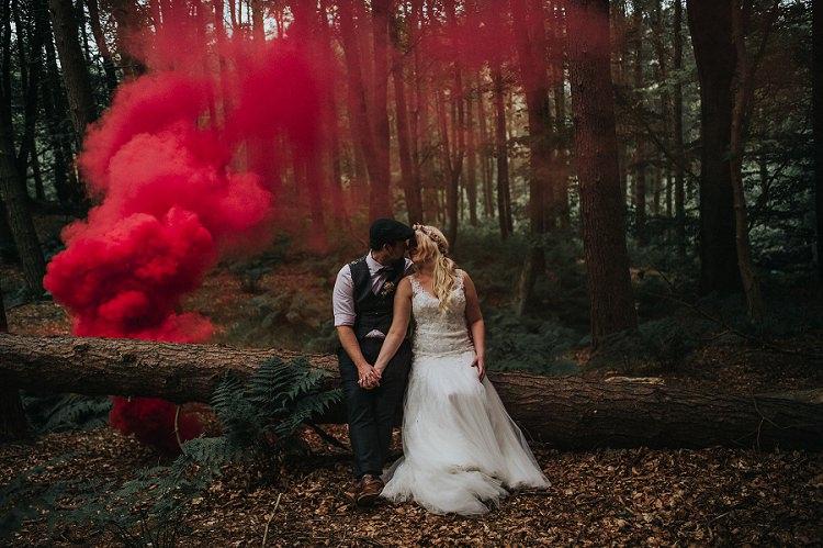 Smoke Bomb Wedding Portraits Images Photographs http://www.kerrydiamondphotography.com/