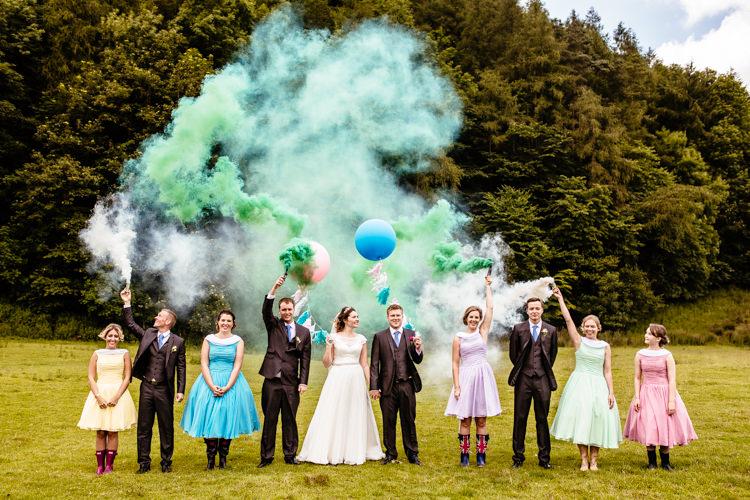 Smoke Bomb Wedding Portraits Images Photographs http://www.cassandralane.co.uk/