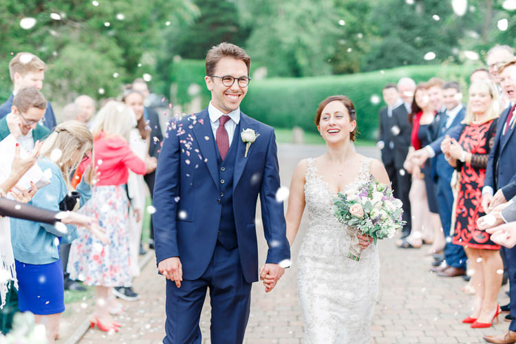 Confetti Throw Romantic Rustic Blush Pink Wedding http://whitestagweddings.com/