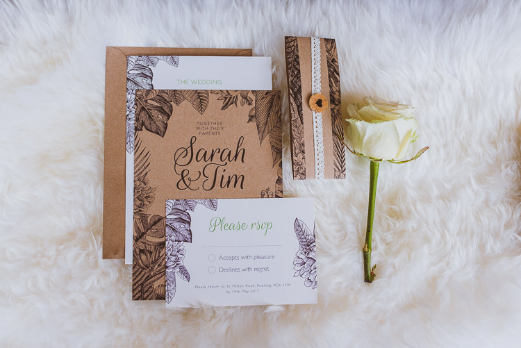 Botanical Stationery Invitations Laid Back Summer Garden Party Wedding Stretch Tent http://joemallenphotography.co.uk/