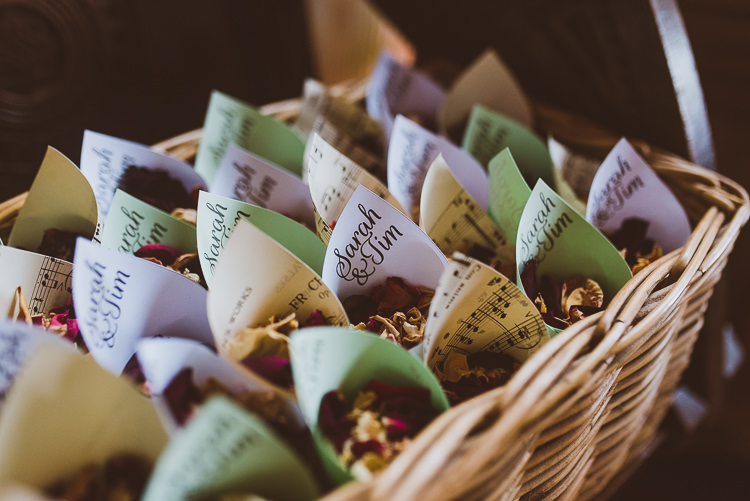 Confetti Cones Basket Petals Laid Back Summer Garden Party Wedding Stretch Tent http://joemallenphotography.co.uk/