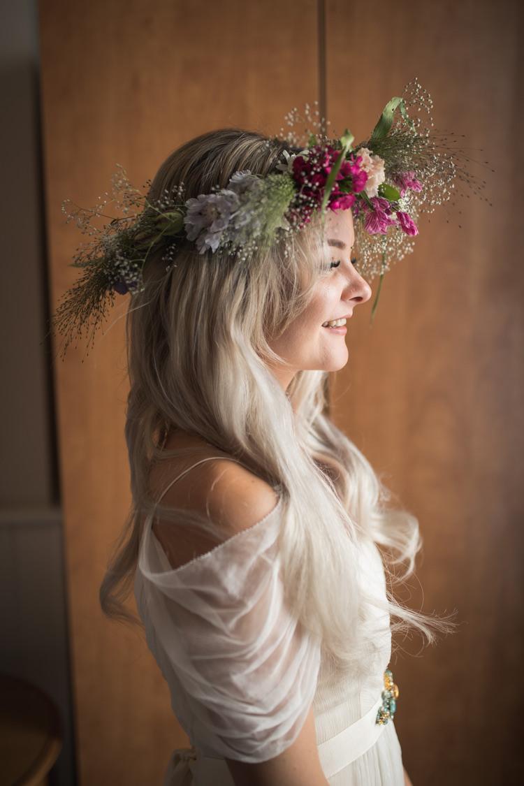 Large Wild Flower Crown Bride Bridal Boho Festival Tipi Wedding http://alexaclarkekent.com/