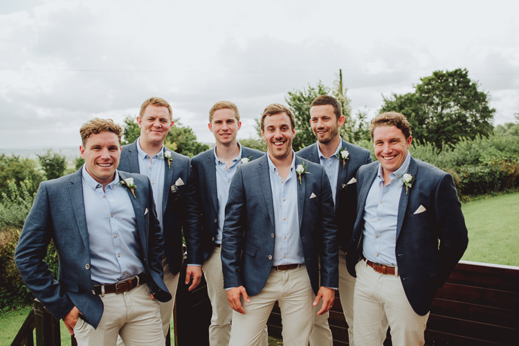 Groom Groomsmen Casual Chinos Jackets Rustic Greenery White Apple Orchard Wedding http://bigbouquet.co.uk/