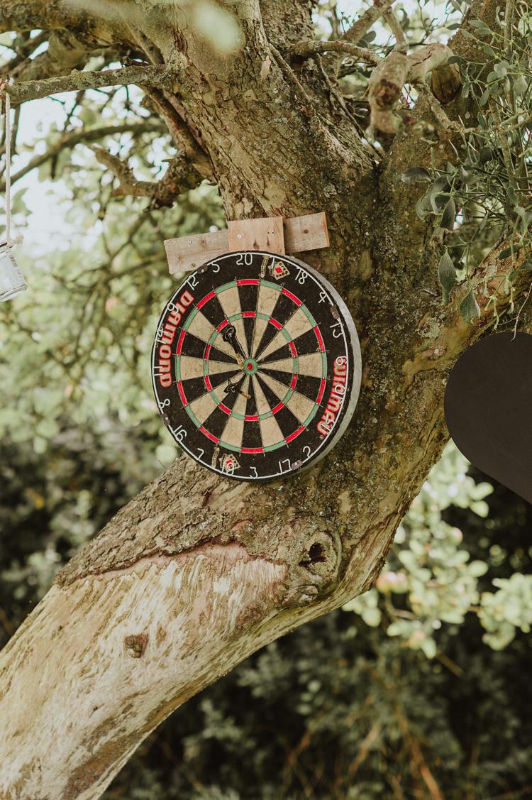 Darts Game Rustic Greenery White Apple Orchard Wedding http://bigbouquet.co.uk/