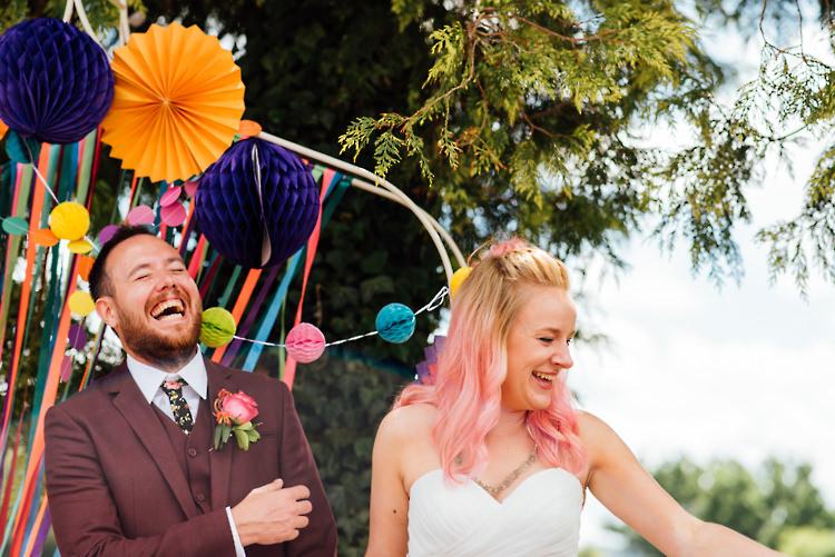Alternative Colourful Outdoor Humanist Village Hall Wedding http://www.chebirchhayesphotography.com/