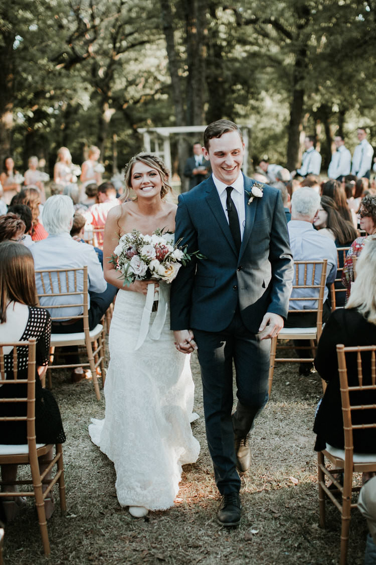 Outdoor Rustic Boho Forest Ceremony Aisle Bouquet Bride Groom | Organic Earthy Fun Wedding Oklahoma http://zaynewilliams.com/