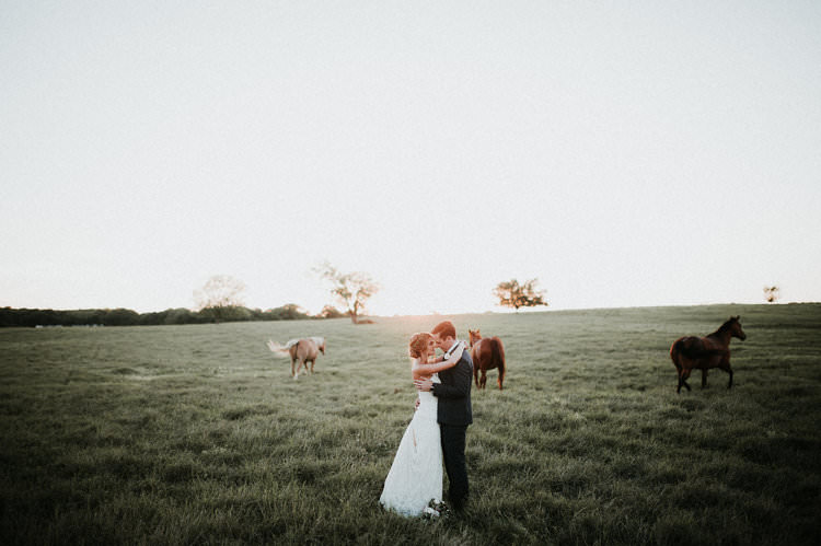 Outdoor Rustic Boho Forest Field Sun Natural Bride Groom Wild Horses | Organic Earthy Fun Wedding Oklahoma http://zaynewilliams.com/