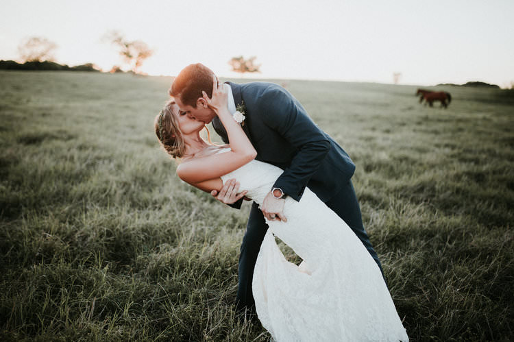 Outdoor Rustic Boho Forest Field Sunset Natural Bride Groom Kiss Wild Horses | Organic Earthy Fun Wedding Oklahoma http://zaynewilliams.com/