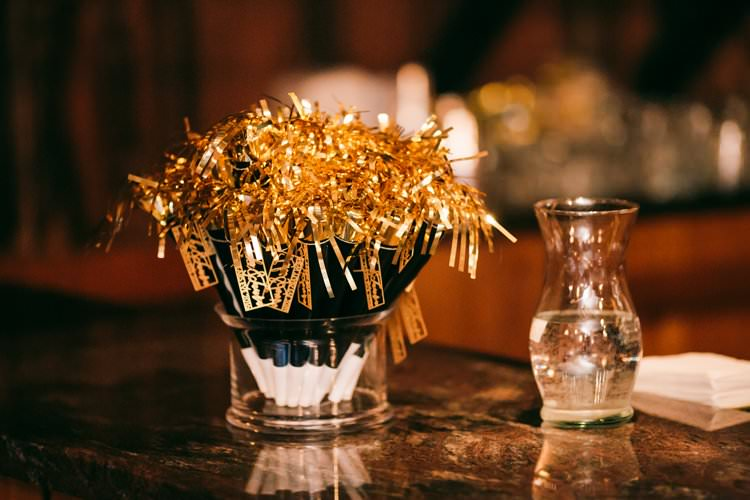 Foil Trumpet Horn Gold Celebrate Bespoke Party Favours | Festive Glamour Christmas New Years Eve Wedding http://www.stevendrayimages.com/
