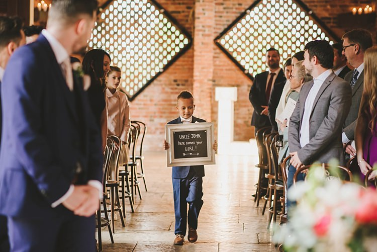 Page Boy Sign Untraditional Pretty Travel Barn Wedding https://www.georgimabee.com/