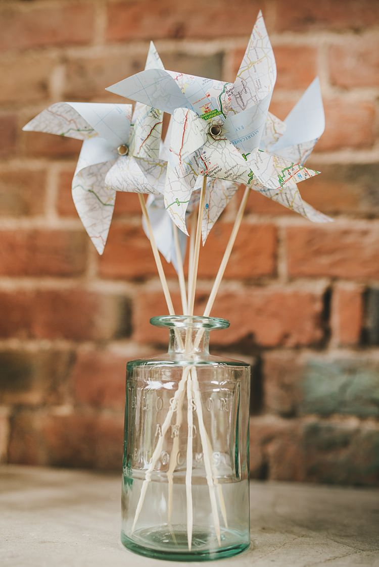 Pinwheels Decor Jar Untraditional Pretty Travel Barn Wedding https://www.georgimabee.com/
