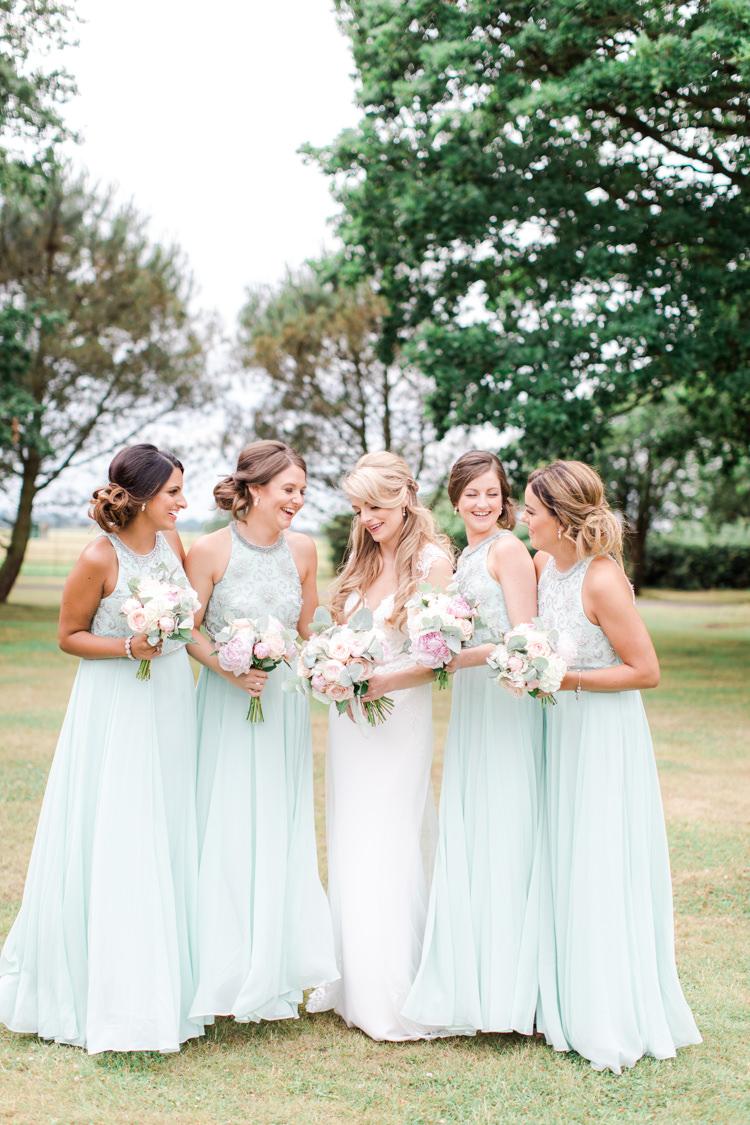 Mint Green Bridesmaid Dresses Long Maxi Pastels Gold Pretty Summer Barn Wedding http://summerlilystudio.com/
