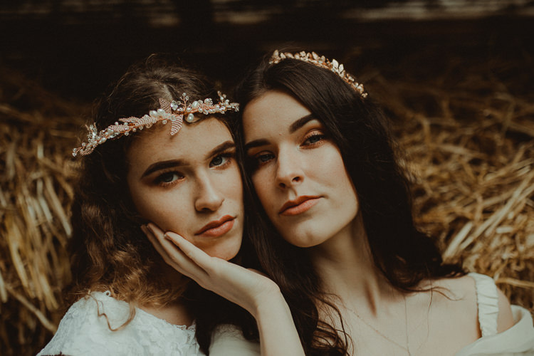 Make Up Bride Bridal Style Long Hair Moody Ethereal Winter Woodland Wedding Ideas http://belleartphotography.co.uk/