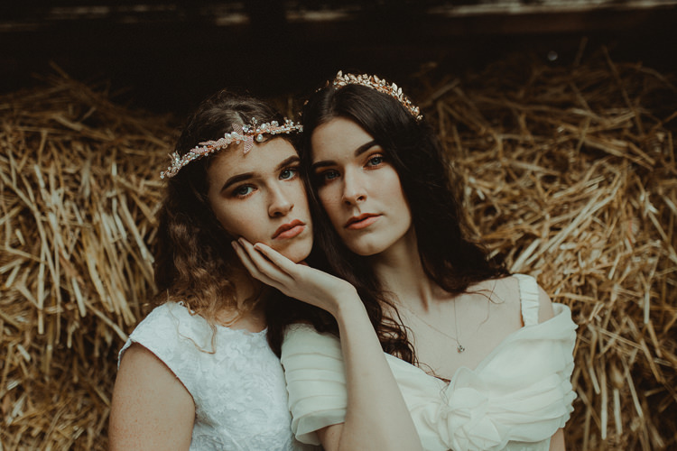 Hair Accessory Crown Tiara Bride Bridal Moody Ethereal Winter Woodland Wedding Ideas http://belleartphotography.co.uk/