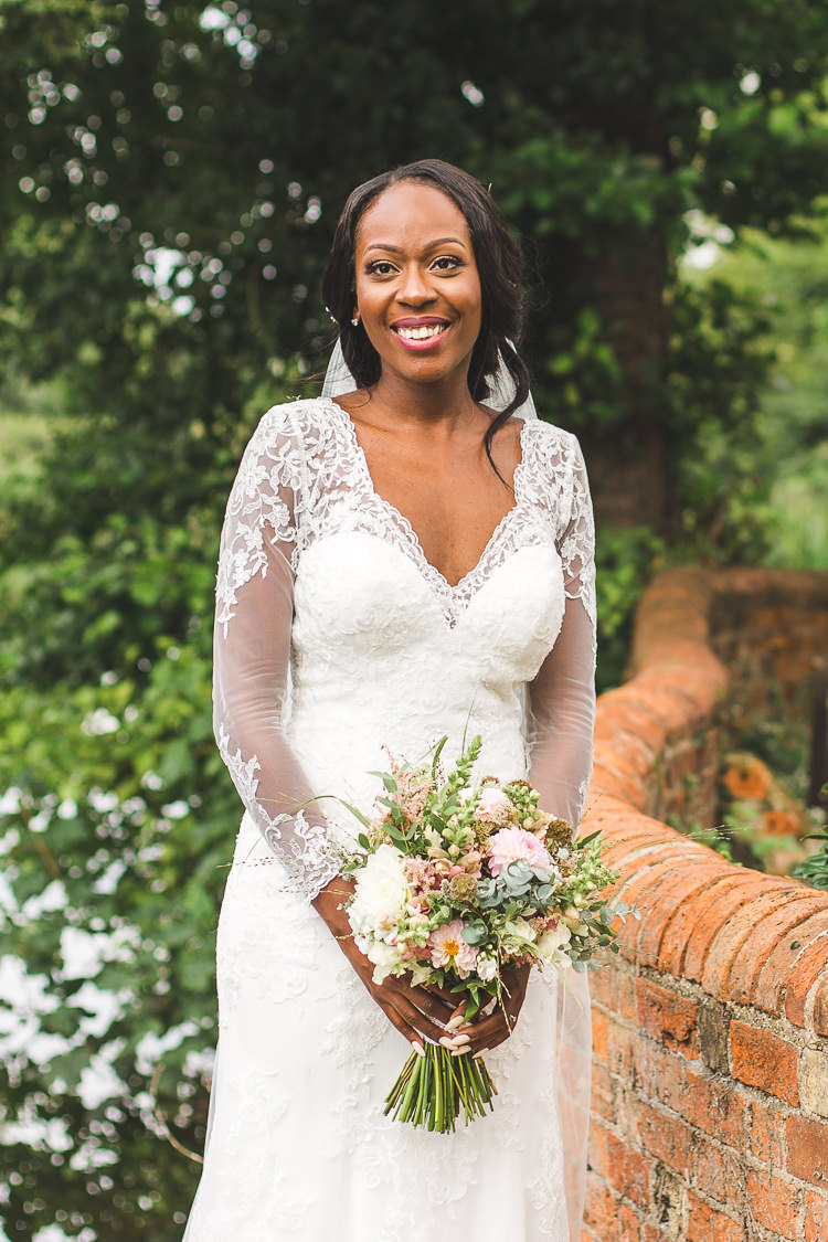 Bride Bridal Maggie Sottero Long Sleeved Lace Dress Sweetheart Whimsical Romantic Barn Wedding http://kirstymackenziephotography.co.uk/