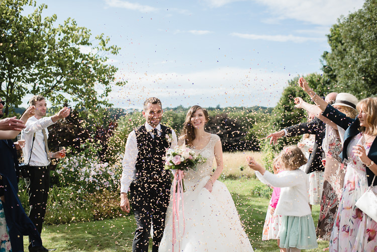 Bride Bridal Princess Embellished Sparkle Top Waistcoat Groom Confetti Personal Homegrown Country Farm Wedding https://www.emmahare.com/