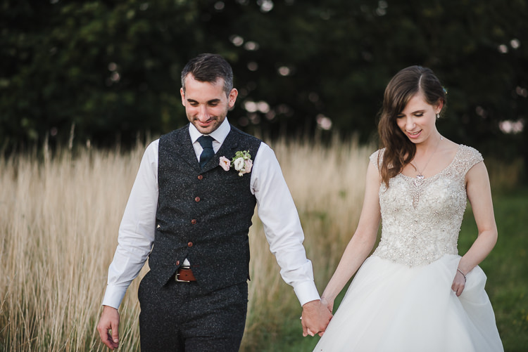 Bride Bridal Princess Embellished Sparkle Top Waistcoat Groom Personal Homegrown Country Farm Wedding https://www.emmahare.com/