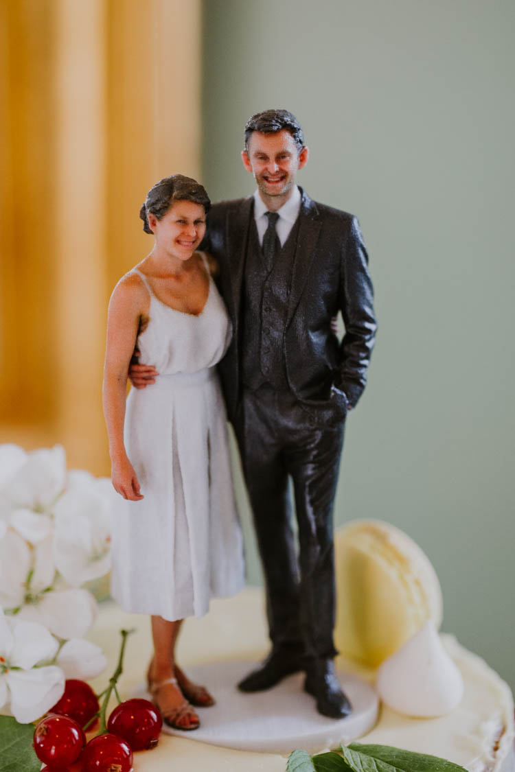 Realistic 3D Cake Topper Bride Groom Couple Unconventional Country Cotswolds Barn Wedding http://www.alexandrajane.co.uk/