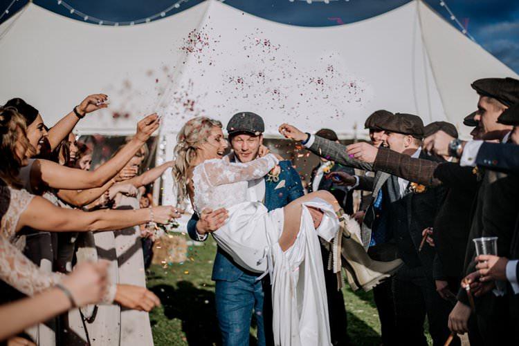 Confetti Throw Rustic Peaky Blinders Vineyard Wedding Yorkshire https://www.kazooieloki.co.uk/