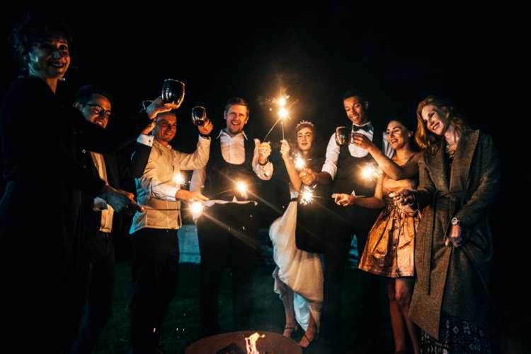 Sparklers Celestial Feast Party Wedding Ideas http://www.threeflowersphotography.co.uk/