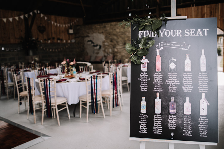 Chalk Black Board Seating Plan Table Chart Bottle Drinks Luxe Rustic Autumn Berry Wedding http://www.oobaloosphotography.co.uk/