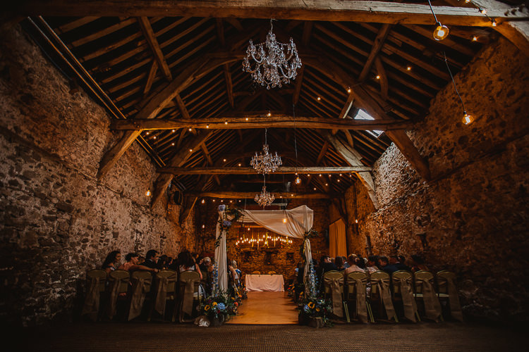 Lights Festoons Drapes Colourful DIY Floral Luxe Barn Wedding http://www.joemather-photography.co.uk/