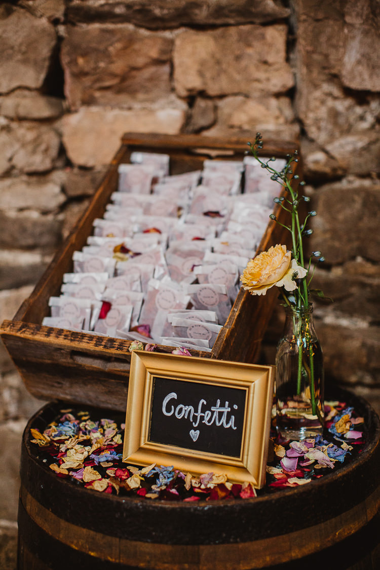 Confetti Envelopes Colourful DIY Floral Luxe Barn Wedding http://www.joemather-photography.co.uk/