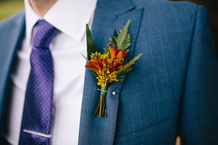 Groom Buttonhole Tropical Countryside Tipi Wedding https://parkershots.com/
