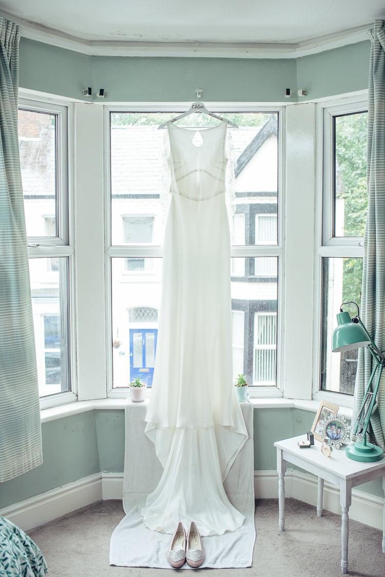 Bride Dress Silk White Caped Train Keyhole Flat Blush Pink Shoes Heart | Greenery Burgundy City Autumn Wedding http://lisahowardphotography.co.uk/