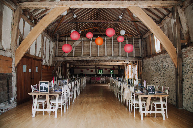 Lanterns Hanging Orange Country Barn Wedding http://www.meganduffield.com/