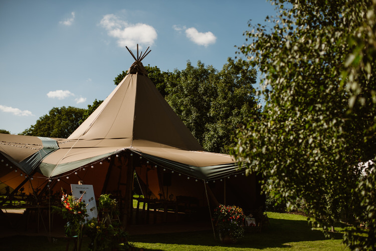 Tipi Teepee Tent Vegan Handfasting Summer Garden Party Wedding https://www.elliegillard.co.uk/