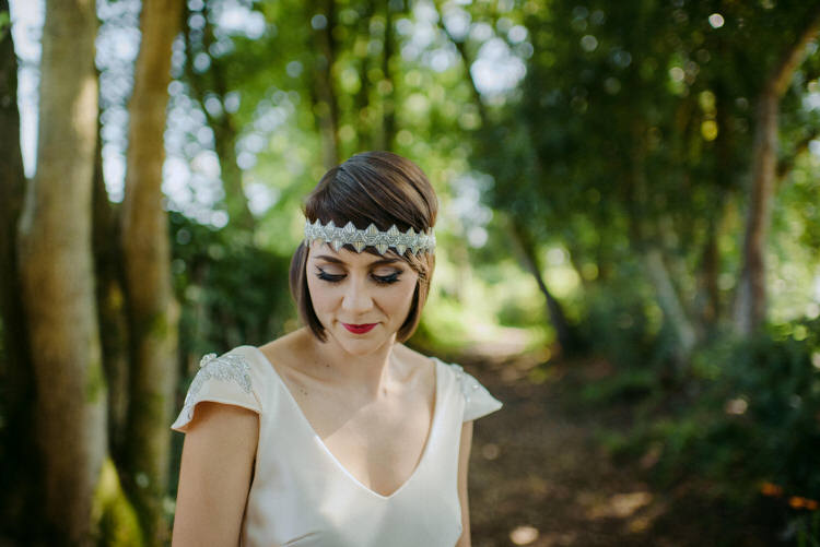 1920s Bride Bridal Hair Accessory Vegan Handfasting Summer Garden Party Wedding https://www.elliegillard.co.uk/