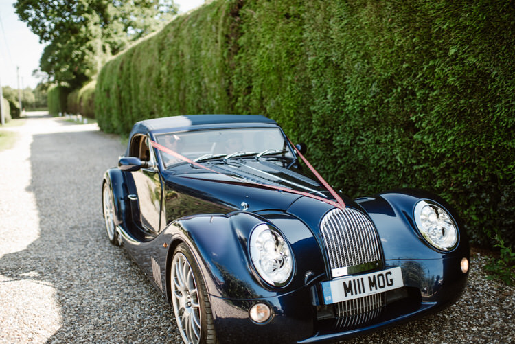 Classic Car Morgan Vegan Handfasting Summer Garden Party Wedding https://www.elliegillard.co.uk/