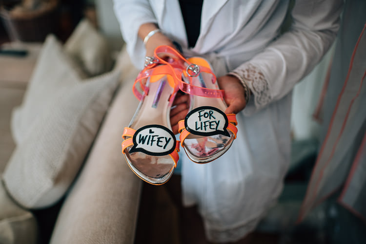 Quirky Shoes Wifey for Lifey Bride Bridal Festival Bohemian Glamping Wedding https://theshannons.photography/