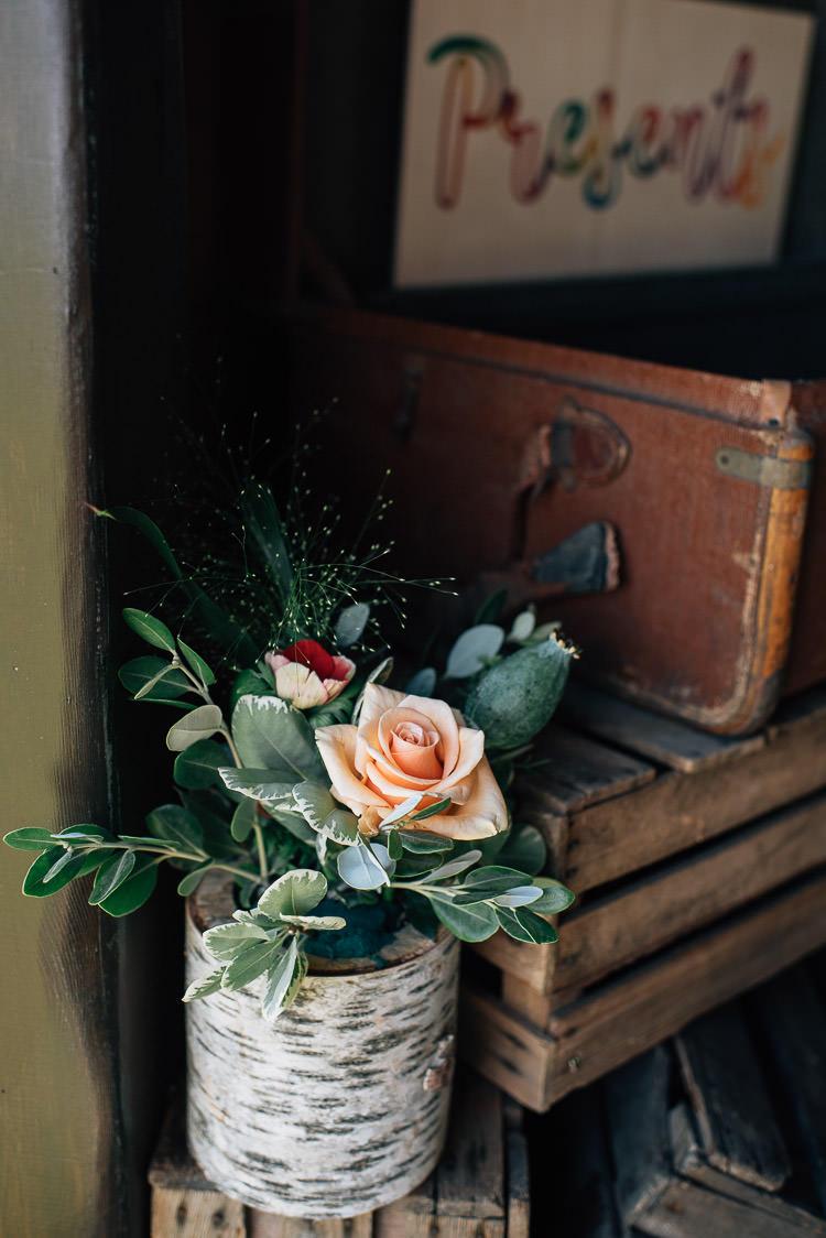 Log Bark Flowers Festival Bohemian Glamping Wedding https://theshannons.photography/