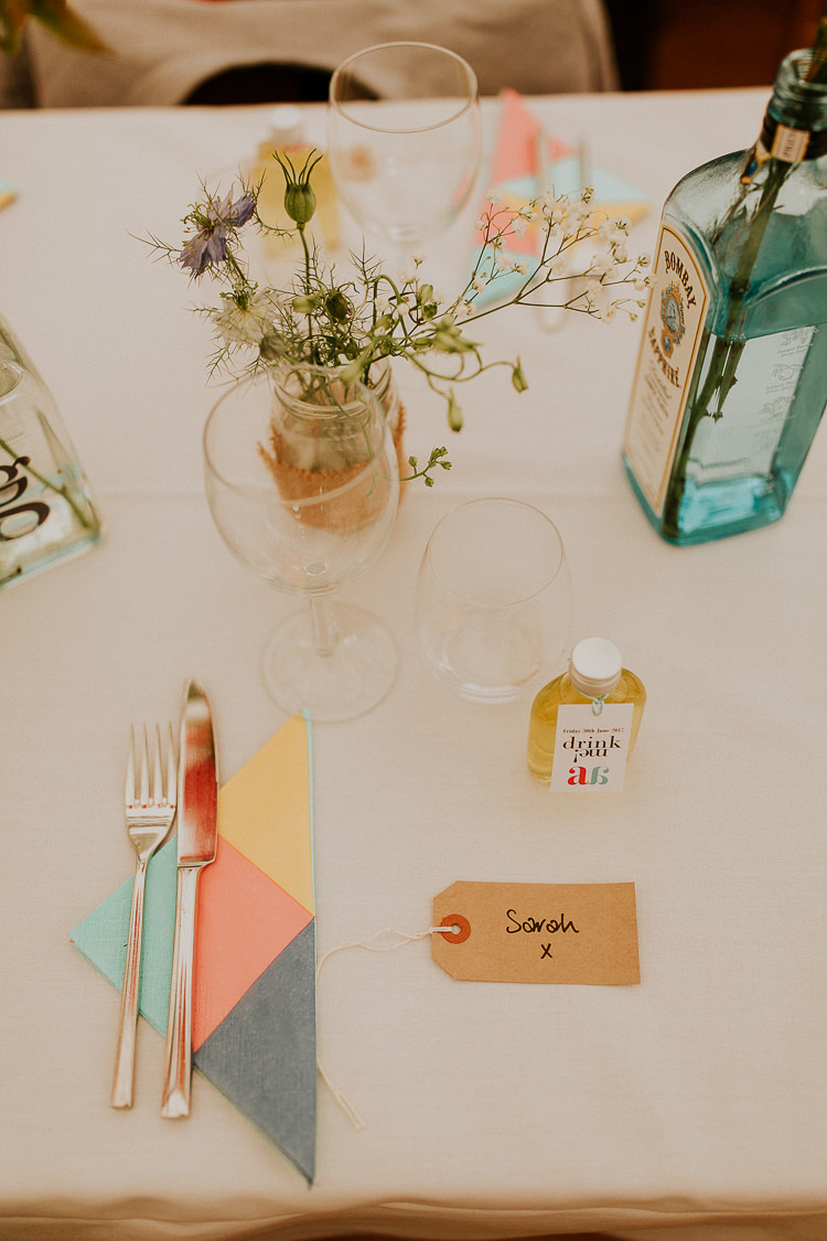 Luggage Tag Place Name Bright Colourful DIY Back Garden Wedding http://jonnymp.com/