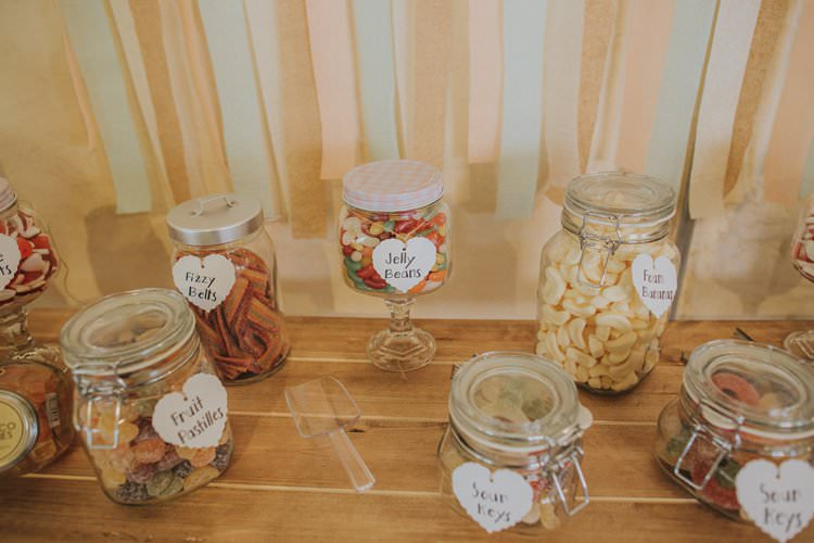 Sweets Sweetie Jars Whimsical Green Copper Rustic DIY Wedding http://www.brookrosephotography.co.uk/