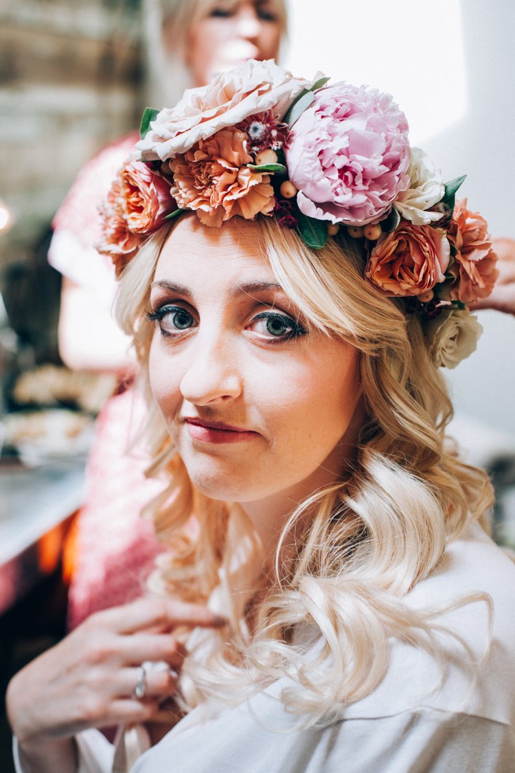 Peony Flower Crown Bride Bridal Flowery Bohemian Secret Garden Wedding https://caseyavenue.co.uk/