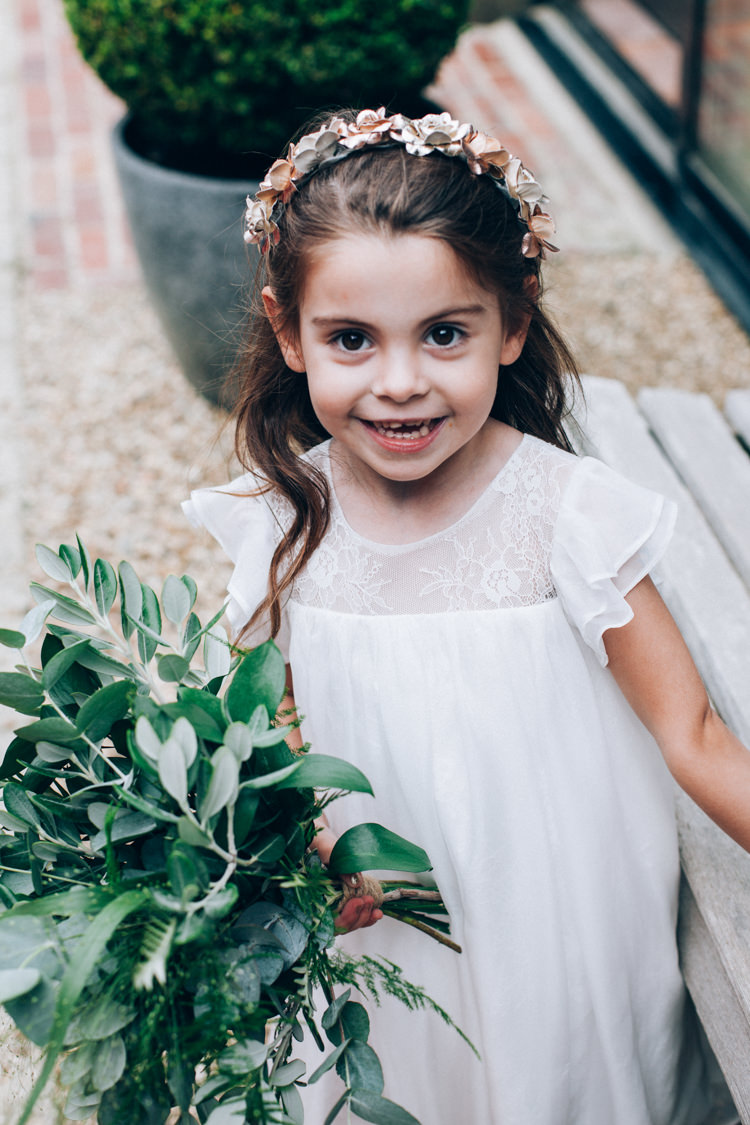 Flower Girl Greenery Bouquet Flowery Bohemian Secret Garden Wedding https://caseyavenue.co.uk/