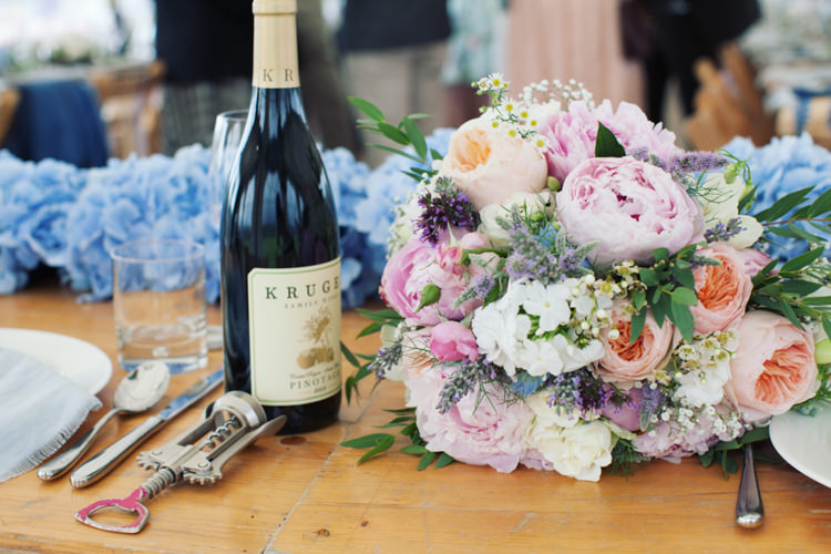 Bouquet Pastel Peony Rose Bride Bridal Relaxed Lavender Farm Marquee Wedding https://sashaleephotography.com/