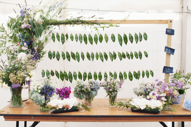 Leaf Seating Plan Table Chart Flowers Relaxed Lavender Farm Marquee Wedding https://sashaleephotography.com/