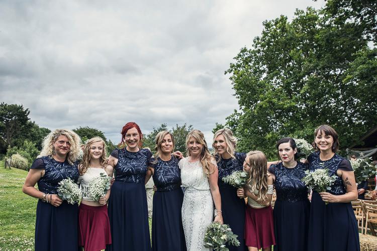 Bridesmaid Dresses Blue Sequin Skirts Tops Heartfelt Celestial Handmade Wedding http://assassynation.co.uk/